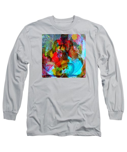 Long Sleeve T-Shirt featuring the mixed media Cocktail by Fania Simon