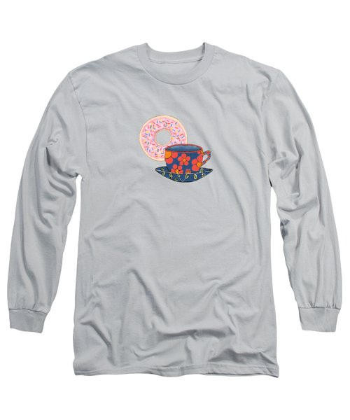 Coffee And Donuts Long Sleeve T-Shirt