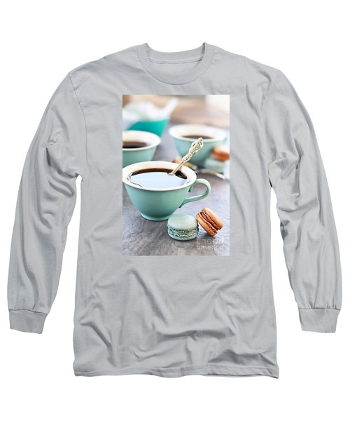 Coffee And Macarons Long Sleeve T-Shirt
