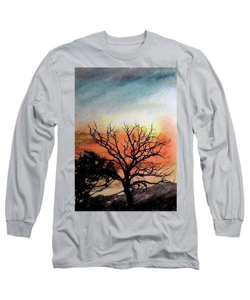 Cold Nightfall  Long Sleeve T-Shirt by R Kyllo