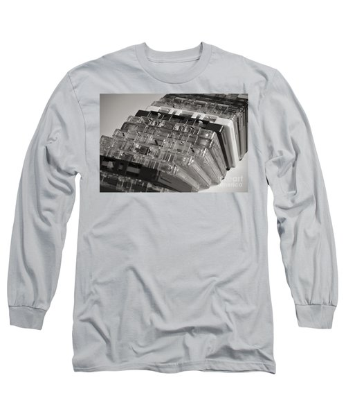 Collection Of Audio Cassettes With Domino Effect Long Sleeve T-Shirt