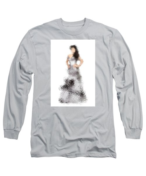 Long Sleeve T-Shirt featuring the digital art Collette by Nancy Levan