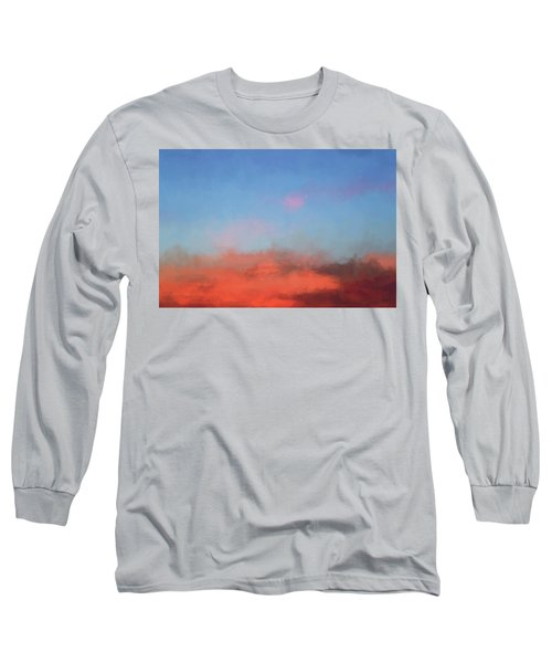 Color Abstraction Xlvii - Sunset Long Sleeve T-Shirt by David Gordon