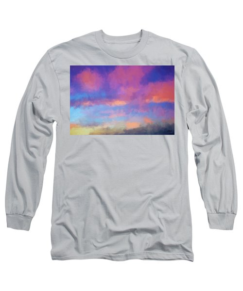 Color Abstraction Xlviii - Sunset Long Sleeve T-Shirt by Dave Gordon