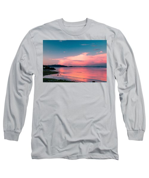 Long Sleeve T-Shirt featuring the photograph Color Me Pink by E Faithe Lester