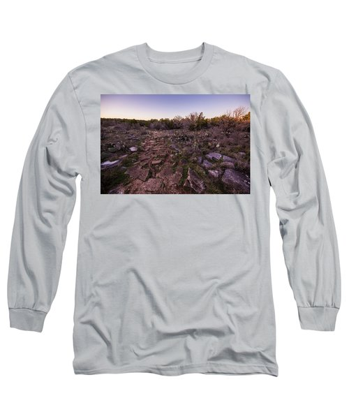 Colorado Bend State Park Gorman Falls Trail #1 Long Sleeve T-Shirt by Micah Goff