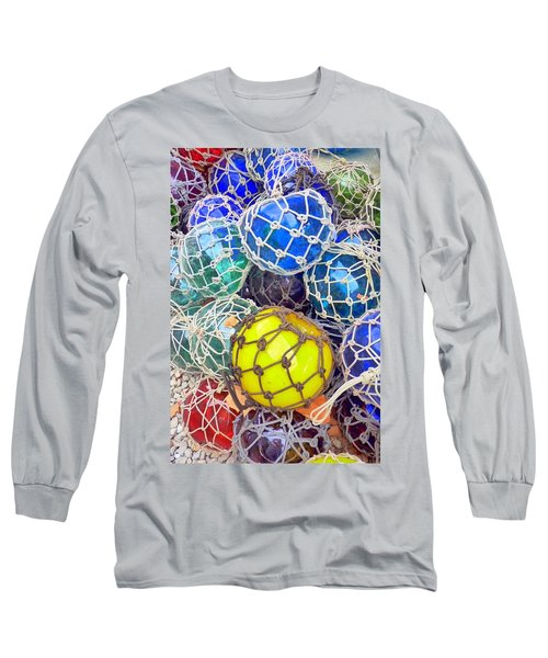 Colorful Glass Balls Long Sleeve T-Shirt by Carla Parris