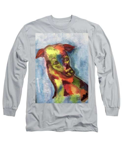 Colorful Greyhound Long Sleeve T-Shirt