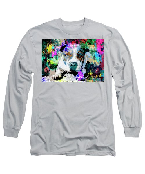 Colorful Pitbull Long Sleeve T-Shirt