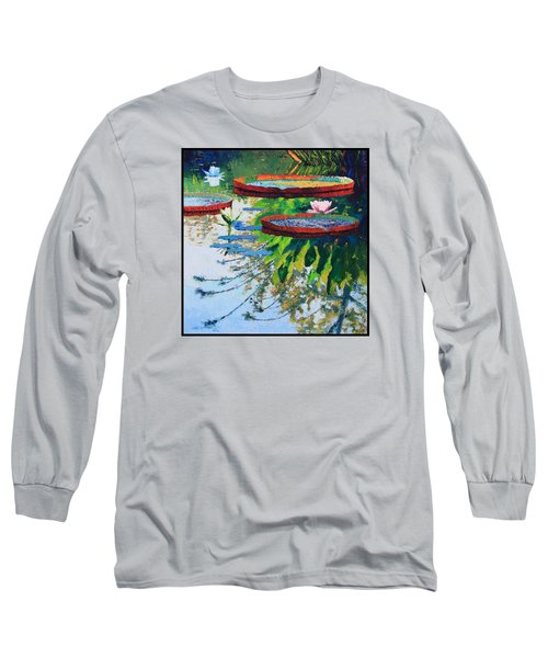 Colorful Reflections Long Sleeve T-Shirt by John Lautermilch