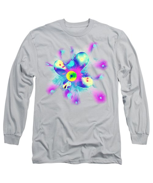 Colorful Splash Long Sleeve T-Shirt by Anastasiya Malakhova
