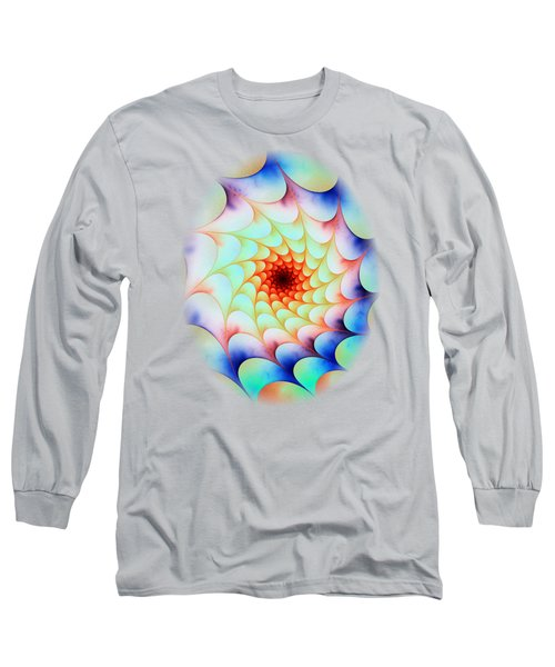 Long Sleeve T-Shirt featuring the digital art Colorful Web by Anastasiya Malakhova