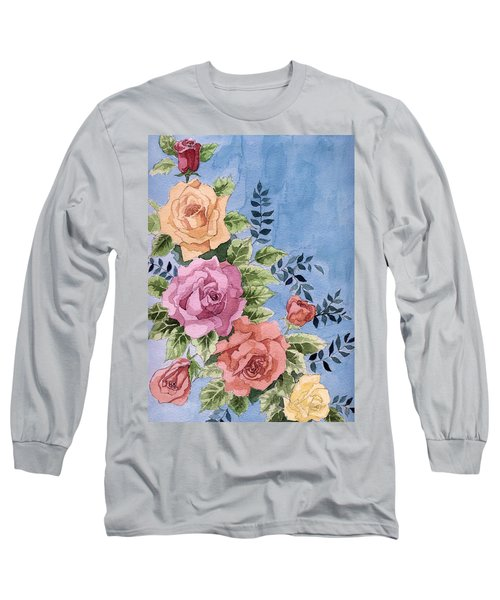 Colorfull Roses Long Sleeve T-Shirt