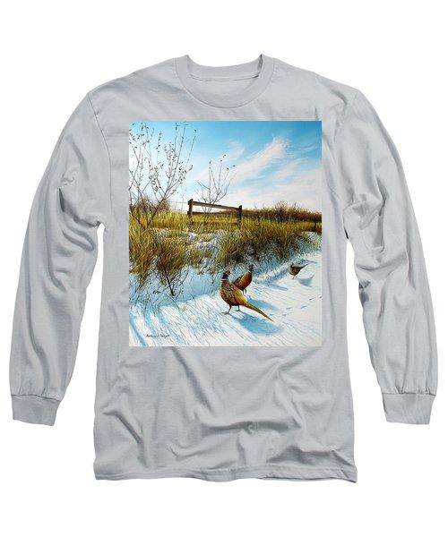 Colors Of Winter - Pheasants Long Sleeve T-Shirt