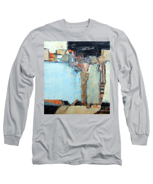 Long Sleeve T-Shirt featuring the painting Columns by Ron Stephens