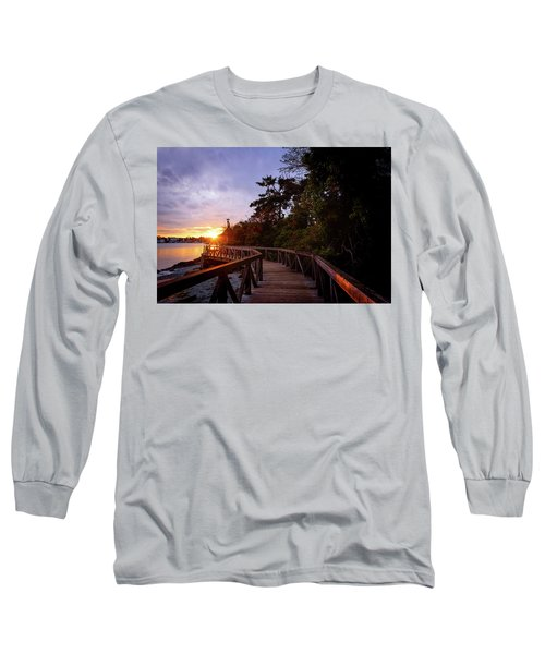 Come Walk With Me Long Sleeve T-Shirt by Keith Boone
