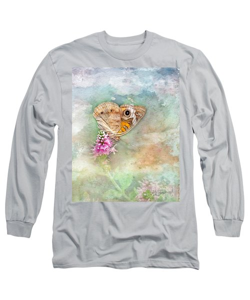 Long Sleeve T-Shirt featuring the photograph Common Buckeye by Betty LaRue