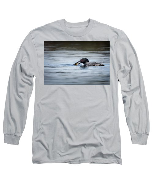 Common Loon Long Sleeve T-Shirt by Bill Wakeley