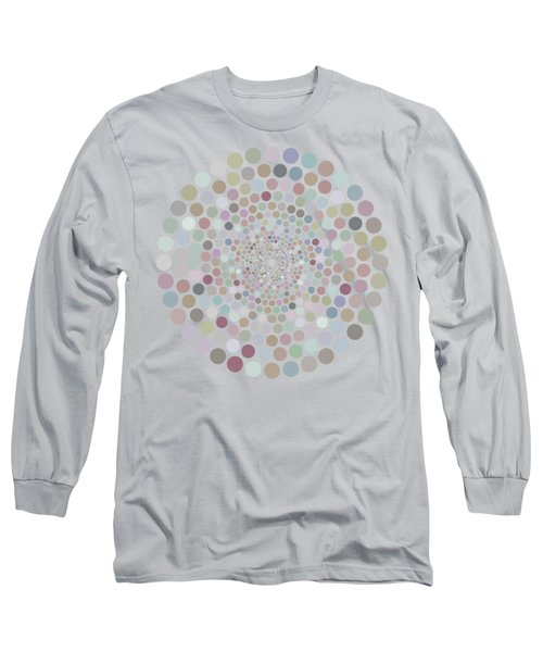 Long Sleeve T-Shirt featuring the painting Vortex Circle - Gray by Hailey E Herrera