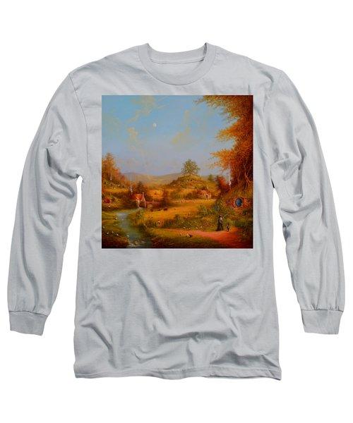 Concerning Hobbits Long Sleeve T-Shirt by Joe Gilronan