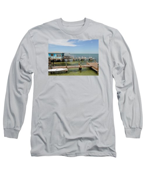 Conch Key Blue Cottage Long Sleeve T-Shirt