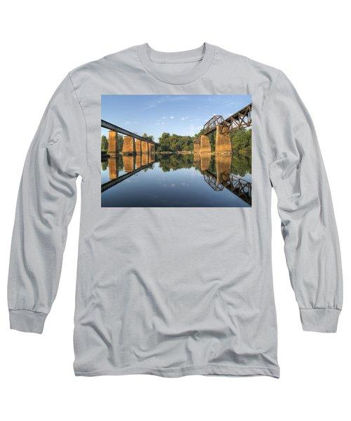 Congaree River Rr Trestles - 1 Long Sleeve T-Shirt