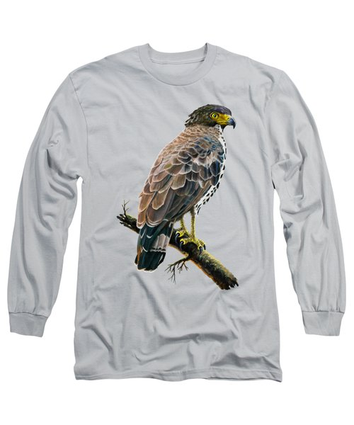 Congo Serpent Eagle Long Sleeve T-Shirt by Anthony Mwangi