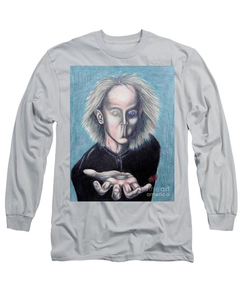 Long Sleeve T-Shirt featuring the drawing Consciousness by Michael  TMAD Finney