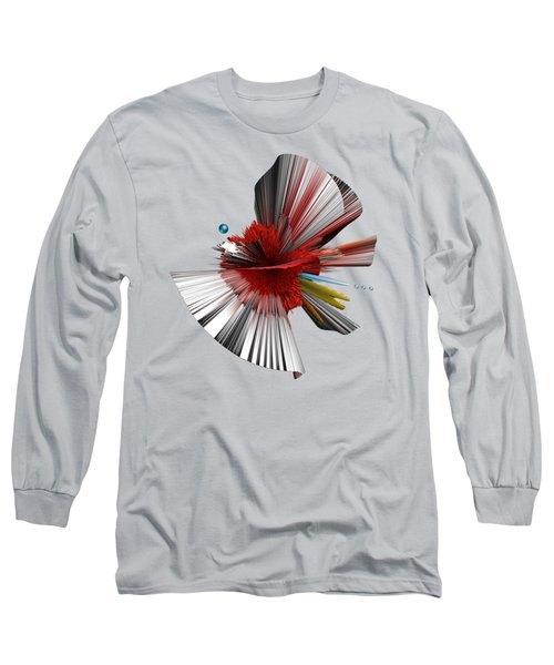 Consciousness Of The Inanimate Painting As A Spherical Depth Map. C Long Sleeve T-Shirt by Paul Davenport