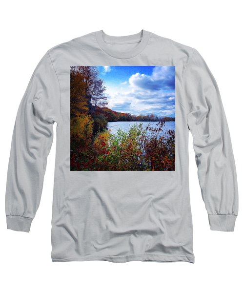 Conservation Park And Pine River In The Fall Long Sleeve T-Shirt