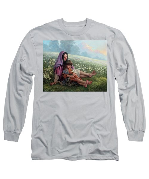 Consider The Lilies Long Sleeve T-Shirt by Greg Olsen