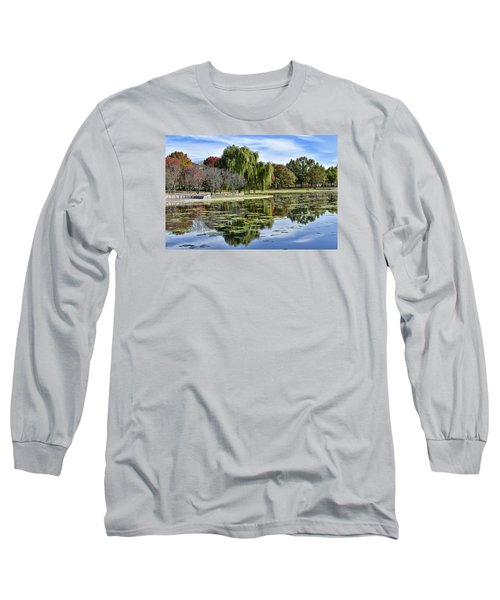 Constitution Gardens On The National Mall Long Sleeve T-Shirt by Brendan Reals