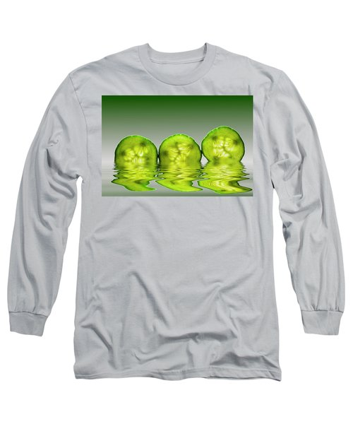Cool As A Cucumber Slices Long Sleeve T-Shirt