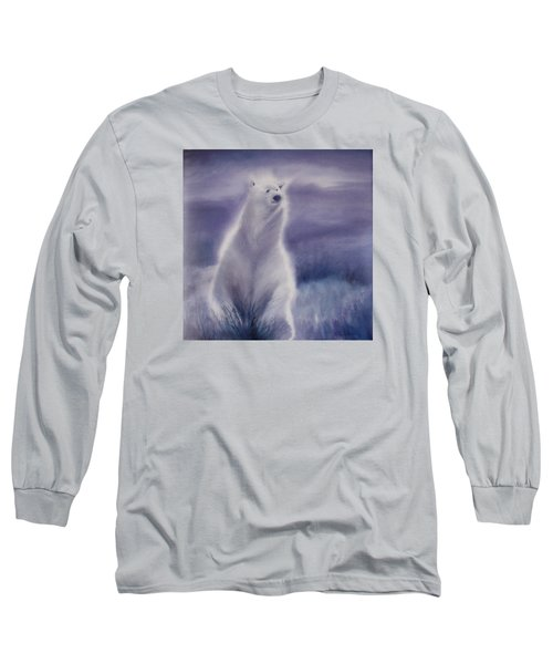 Long Sleeve T-Shirt featuring the painting Cool Bear by Allison Ashton