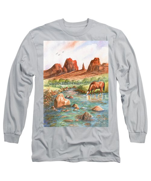 Long Sleeve T-Shirt featuring the painting Cool, Cool Water by Marilyn Smith
