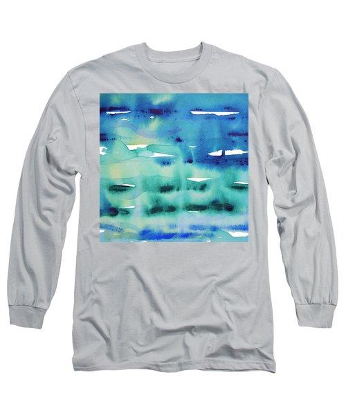 Cool Watercolor Long Sleeve T-Shirt