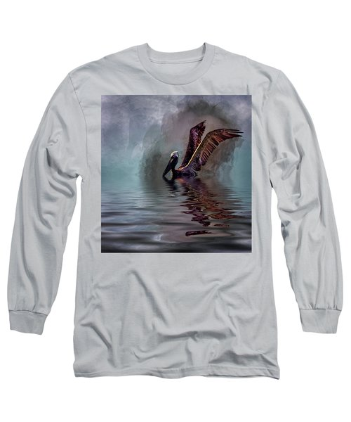 Cooling Off Long Sleeve T-Shirt by Cyndy Doty