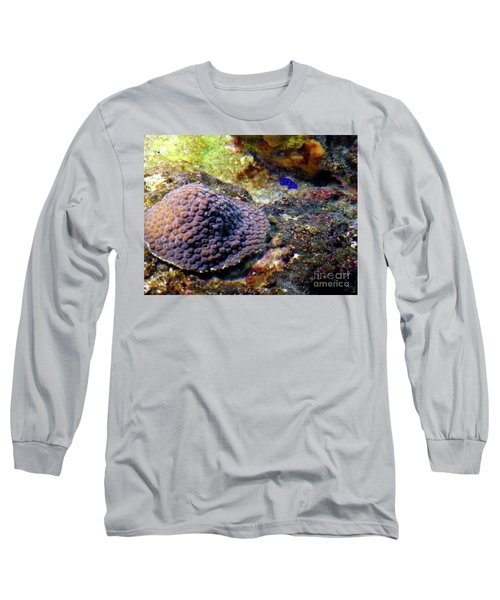 Long Sleeve T-Shirt featuring the digital art Coral Art Cu 3 by Francesca Mackenney