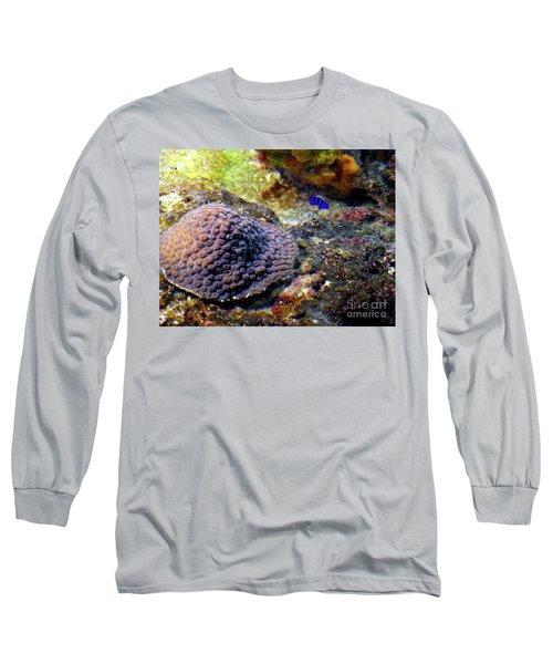 Long Sleeve T-Shirt featuring the digital art Coral Art Cu 3 by Francesca Mackenney