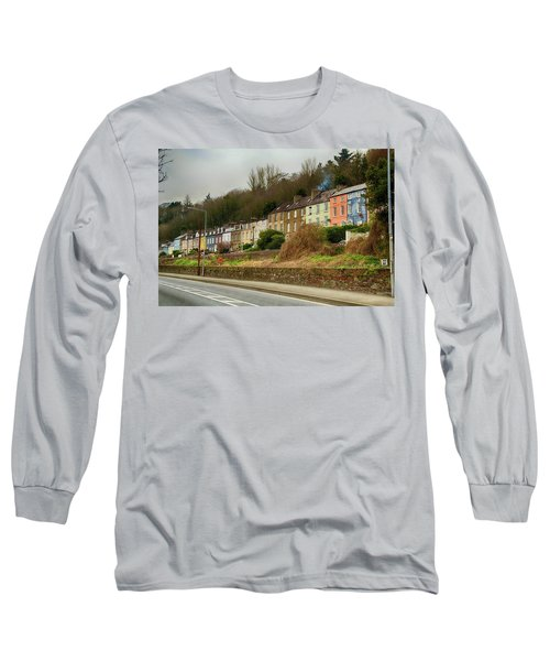 Long Sleeve T-Shirt featuring the photograph Cork Row Houses by Marie Leslie