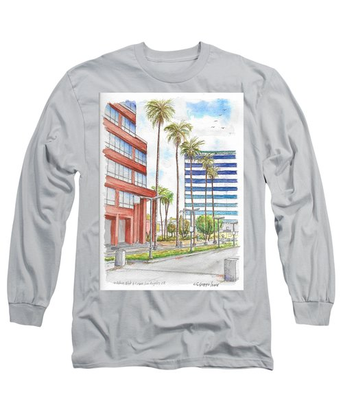 Corner Wilshire Blvd. And Curson, Miracle Mile, Los Angeles, Ca Long Sleeve T-Shirt by Carlos G Groppa