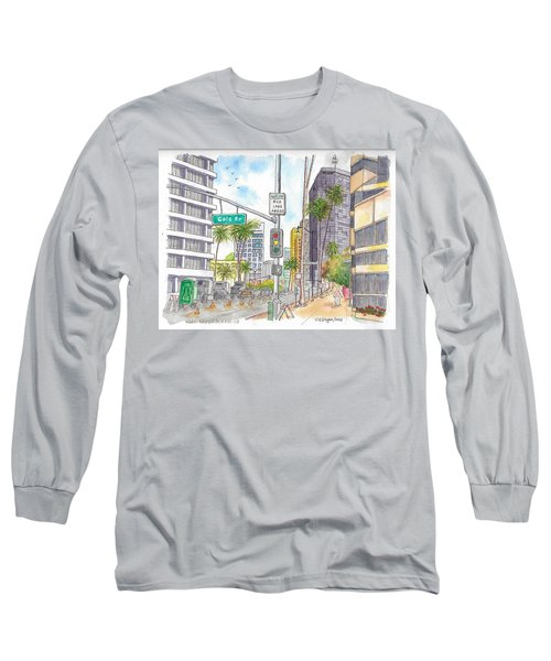 Corner Wilshire Blvd. And Gale Dr., Beverly Hills, Ca Long Sleeve T-Shirt