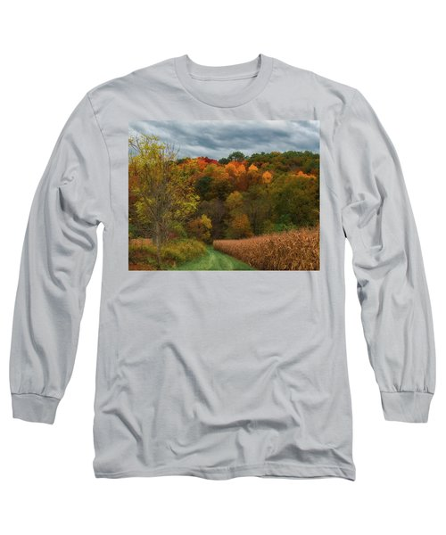 Cornfield In Fall  Long Sleeve T-Shirt
