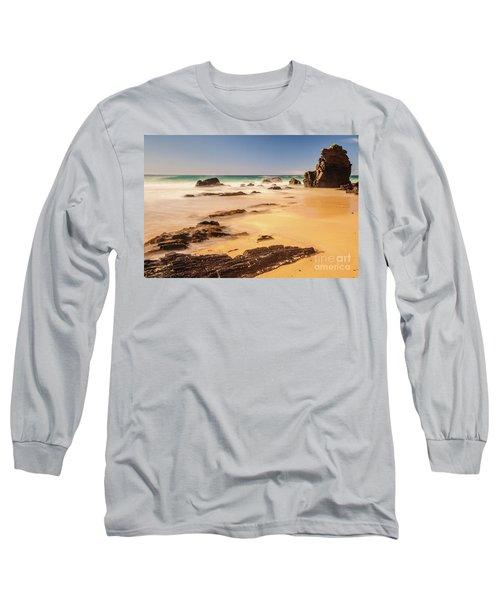 Corunna Point Beach Long Sleeve T-Shirt by Werner Padarin