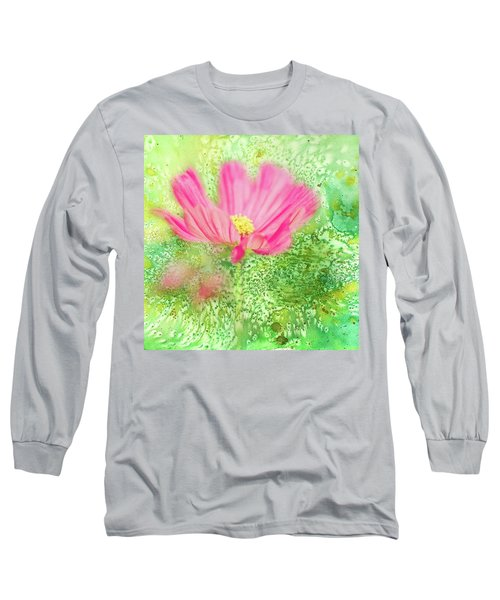 Cosmos On Green Long Sleeve T-Shirt