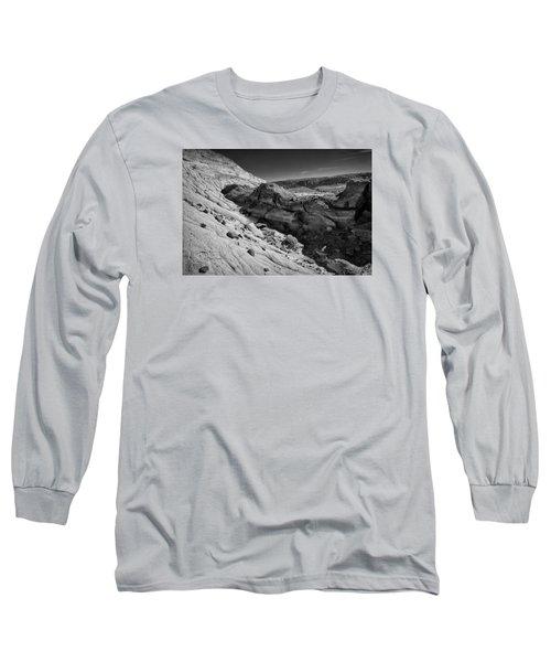 Cottonwood Creek Strange Rocks 7 Bw Long Sleeve T-Shirt
