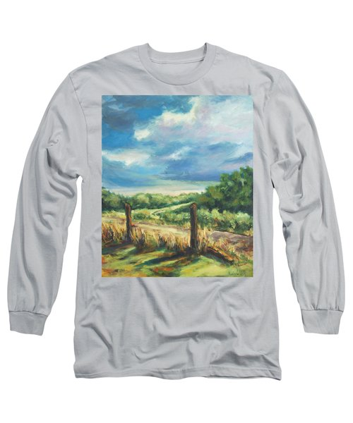Country Road Long Sleeve T-Shirt by Rick Nederlof