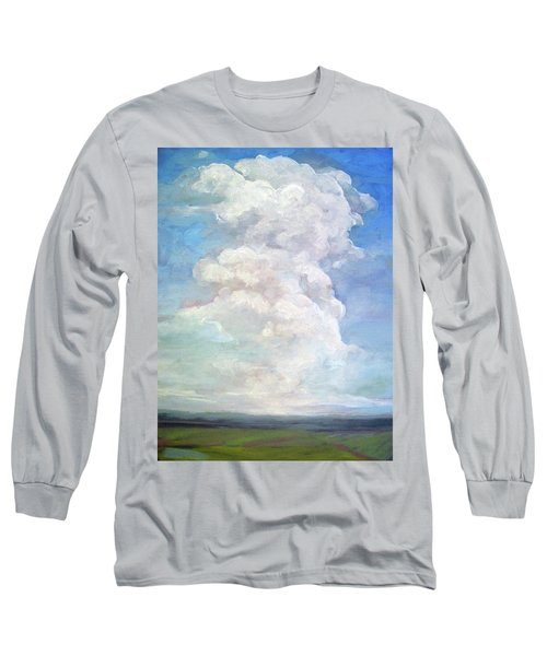 Long Sleeve T-Shirt featuring the painting Country Sky - Painting by Linda Apple
