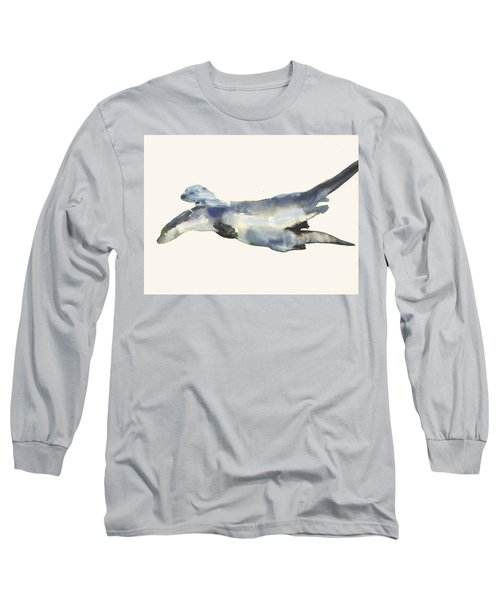 Courting Otters  Long Sleeve T-Shirt