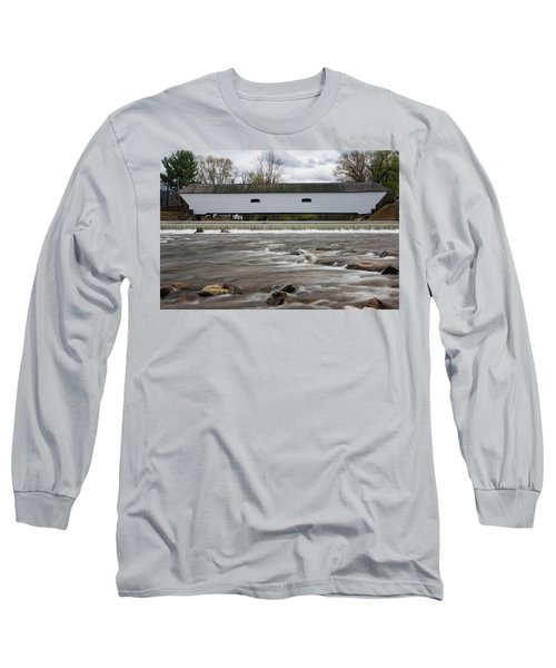 Covered Bridge In March Long Sleeve T-Shirt